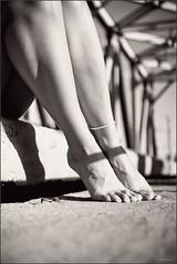 girl's legs (Yepanchintcev Aleksey) Tags: bw girl monochrome fetish high toes legs fingers arches barefoot barefeet ankle footfetish footjob barelegs