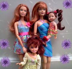 The Roux Family (lovebarbies) Tags: family happy stacie barbie whitney kelly basics