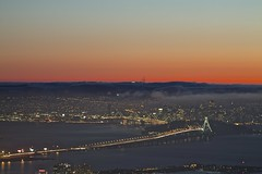 Stomping grounds (sina.pour) Tags: sf city bridge sunset sky fog night landscape oakland evening bay berkeley san francisco dusk marin foggy peak east area grizzly scape 510 emeryville 415