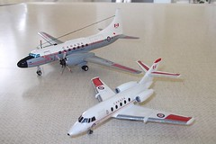 2076 Falcon and Cosmopolitan (CanMilAir Decals) Tags: cosmopolitan canadair dassault twinprop twinjet falcon20 144scale cc109 cc117 canmilair 412sqn