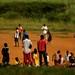 Angolanos aproveitando o domingo
