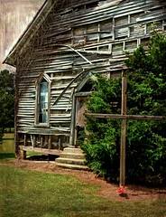The 1905 Shiloh Methodist Church (Abandoned):  Pitt County, North Carolina (EdgecombePlanter) Tags: abandoned church window dark nc shadows sad decay empty religion holy dilapidated crumbling
