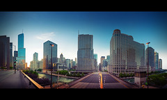 Chicago River (d.r.i.p.) Tags: travel panorama usa cloud chicago architecture clouds river gate loop michigan widescreen drip ave 24mm michiganavenue avenue cloudgate 180 magnificent mile chicgao 2470mm themagnificentmile d80 cityfront 2470mmf28g
