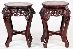 17. Two Chinese Carved Wood Stands