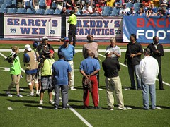AFL/AFC Legends Gather on the Field as part of Buffalo Alumni Foundation/2012 Bills Home Opener (MattBritt00) Tags: ny newyork sports football buffalo buffalobills bills stadium nfl kansascity chiefs afc americanfootball orchardpark footballstadium kansascitychiefs ralphwilsonstadium nationalfootballleague americanfootballconference