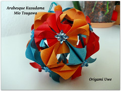 Arabesque (UR Fleurogami) Tags: origami arabesque kusudama miotsugawa bltenball