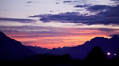 Sunset over the Alps (tom_focus) Tags: sunset sky mountains alps austria sterreich sonnenuntergang vorarlberg