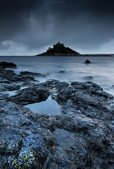 blue monday (Scott Howse) Tags: uk sunset sea england sky castle water clouds island evening coast rocks cornwall dusk atlantic lee coastline filters stmichaelsmount marazion 09h 06nd