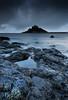 blue monday (Scott Howse) Tags: uk sunset sea england sky castle water clouds island evening coast rocks cornwall dusk atlantic lee coastline filters stmichaelsmount marazion 09h 06nd