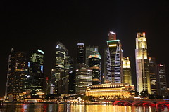 Singapore Night Cityscape
