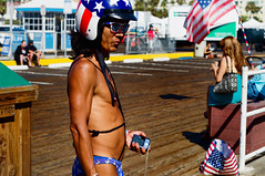 Birthday Suit - July 4th 2012 (thedonuttinz) Tags: blue red usa white sunglasses 50mm star underwear flag sony united helmet stripe thongs strip states fd nex canonlens