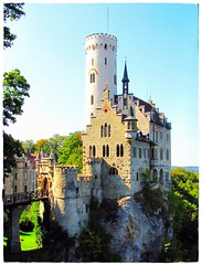 Romantische Burg Lichtenstein - Gothic Revival Castle in Baden-Wurttemberg,  Germany, Baden-Wrttemberg, Deutschland (eagle1effi) Tags: castle architecture canon germany deutschland landscapes cool colorful flickr postcard experiment bluesky fav20 powershot architektur schloss region landschaft 2009 castillo myfave lichtenstein schlsser postkarte lumen damncool masterclass badenwurttemberg wahrzeichen badenwrttemberg schwbischealb badenwuerttemberg reutlingen burgen swabianalb views500 views100 honau views200 views300 schlos views1000 views2000 germanydeutschland lndle geomapped eagle1effi ishotcc naturemasterclass ae1fave byeagle1effi 3wordcomments schloslichtenstein llovemypics djangosmasterclass mrchenschlos castlelichtenstein yourbestoftoday canonpowershotsx1is ae1faves sx1best masterclass djangos todaysbest artampexpression sx1isbest stuttgartquot canonreferencephoto tbingenreutlingen canonpowershotsx1isreferenceshot dreiwrter southofstuttgart ber100malgesehen tubingue