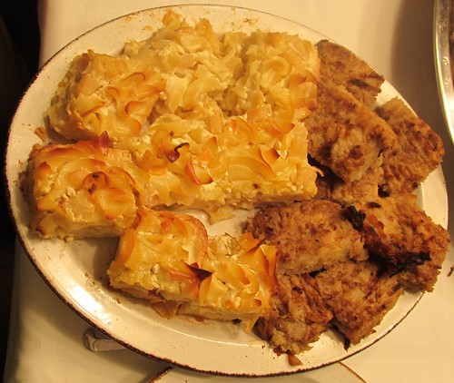Noodle Kugel & Potato Kugel