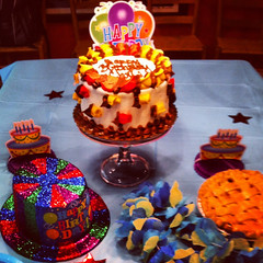 Happy Birthday Chris (sfPhotocraft) Tags: chris hat cake pie table birthdaycake tabletop 2012 iphone
