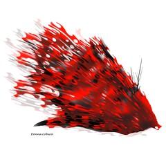 Fish Out of Water (donnacoburn1) Tags: new original abstract color art illustration colorful unique fineart digitalart brushes app visualart artworks coburn creatve sketchbookpro digitalartworks donnacoburn