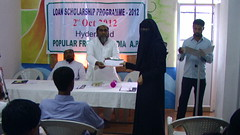 Popular Front held loan scholarship distribution program in Hyderabad (TwoCircles.net) Tags: hijab email niqab