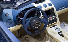 Spyder interior 2 (@raphcars) Tags: lamborghini gallardo spyder roadster lp5604 lp560 dark blue interior beige cream steering wheel lambo paris motor show 2012 auto france mondial automobile eos 7d press days raphcars
