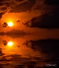 Tranquil Sunrise (StevieC-Photography) Tags: sea sky cloud sun sunlight seascape reflection nature rock vertical sunrise outdoors island photography spain nopeople dramaticsky scenics tranquilscene beautyinnature breakingdawn colourimage steviec ibizaisland ibizasunrise tranquilsunrise
