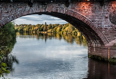 Perth Bridge (A O'Brien) Tags: bridge reflections scotland arch rivertay perth smeatonsbridge