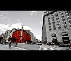 vermillion (johnofarch14) Tags: street city usa building colors buildings photography design washingtondc dc nikon downtown cityscape sigma ps dslr cloudscapes vermillion colorization 10mm d3000
