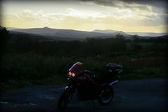 On my way to work.. (Mike-Lee) Tags: sunset mountains home mike work evening derbyshire peakdistrict sheffield tiger nightshift hills motorbike triumph onwaytowork triumphtiger oct2012 onwaytoorhomefromwork