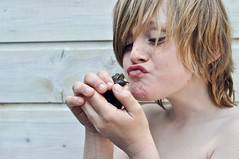 World animal day 2012 (Talliebally - on & off) Tags: boy portrait pet cute love kissing 14 prince frog blond mm charming 50 gijs kikker dierendag worldanimalday animallove boynextdoor boywithlonghair jonahsbestfriendsigma