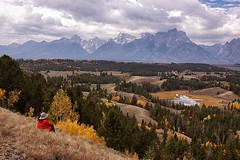 Hedrick Pond Overlook (Dingus98) Tags: park trees mountains fall colors clouds landscape bill pond bell national teton overlook hedrick