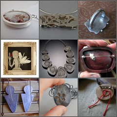 Weekend Eye Candy - Back Edition (lorahart) Tags: silver necklace back fdsflickrtoys pin mosaic brooch jewelry bee bracelet reverse lorahart elistamora
