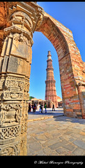 The Qutub Minar (Mukul Banerjee (www.mukulbanerjee.com)) Tags: old sculpture india art history tourism archaeology monument beautiful architecture photography ancient nikon ruins minaret delhi muslim islam tomb landmark mosque tourist unescoworldheritagesite unesco worldheritagesite mausoleum photographs empire historical classical civilization sultan southeast dslr 14thcentury masjid cultural emperor medival newdelhi qutubminar islamic 2012 worldheritage lodhi shah qutabminar southasia d300 shahi mughal sigma1020mm mehrauli historicindia sultanate alaiminar quwwatulislam historicalindia iltutmish delhisultanate altamash imamzamin firozshahtughlaq indianheritage hindusthan alauddinkhilji qutbuddinaibak medivalindia bymukulbanerjee mukulbanerjeephotography mukulbanerjeephotography wwwmukulbanerjeecom mamlukdynasty wwwmukulbanerjeecom
