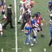 Eli Manning walks off the field