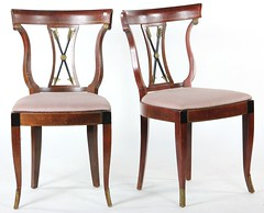 40. Pair of Regency Arrow Back Side Chairs