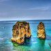 Pigeons Rock or Raouché in Beirut, Lebanon