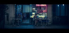 Last Order (James Yeung) Tags: cinematic moviestill movie anamorphic kowa night france paris cafe