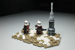 Patrol ([C]oolcustomguy) Tags: white snow brick dark grey star lego arm clones wars patrol becon brickarms