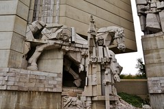 Builders of the Bulgarian Country. Monument, Shumen (yuliyadraganova) Tags: city travel summer art history church nature architecture buildings landscapes ruins europe capital roadtrip palace explore bulgaria monuments sculptures