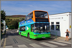 1992, Alum Bay (Jason 87030) Tags: b7tl volvo plaxton president needles alumbay iow isleofwight holiday torism august battery 2016 sunny summer girl lady legs people visitors glass shop island bus opentop topless converted 1992 gsk962 color bright light crossing zebra roadside afternoon