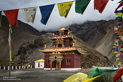The upcoming temple complex for housing the 'Giu mummy' at Giu village, Spiti valley (Bharat Baswani) Tags: giu gue mummy spiti valley buddhism buddhist lama gonpa gompa monastery temple complex mountains himalayas barren prayer flags mystic clouds himachal