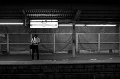 Day 238/366 : A man on the platform (hidesax) Tags: 238366 amanontheplatform nightscape night ageo station jr platform man saitama japan hidesax leica x vario 366project2016 366project 365project