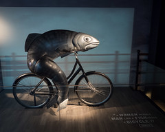 Fish on a Bicycle (Peter E. Lee) Tags: spring awomanneedsamanlikeafishneedsabicycle ireland dublin republicofireland roi 2016 ire eire guinnessstorehouse ie