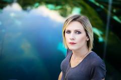 (stepfromshadow) Tags: battersea london park portrait woman blond girl water pond reflection