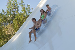 Boomerang - Last Ride of the Summer (aaronrhawkins) Tags: waterpark sevenpeaks provo utah swim swimsuits children kids wet ride boomerang fun summer late speed scary tube slide slippery thrill happy family 7peaks reflection aaronhawkins
