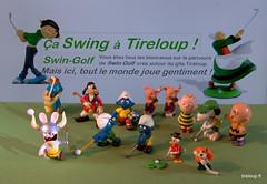 Super journe Swing-golf  tireloup (Tireloup) Tags: swingolf tireloup becassine gaston lapincrtin smurf schtroumpf dingo picsou snoopy linus charliebrown peanuts