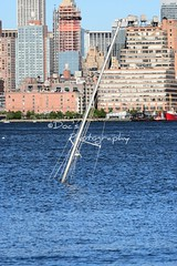 New York Skyline (Kevin Shriner) Tags: water view newyorkcity architecture newyork newjersey skyline boat mast outdoor ocean river hudson