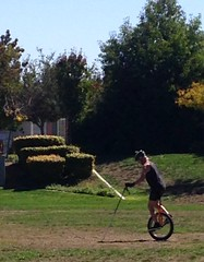 (enovember) Tags: unicycle park wordless helmet wah