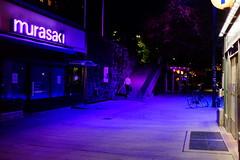 Murasaki (foxxyz) Tags: stockholm sweden europe scandinavia subway murasaki purple street night streetscene