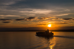 Another Wal Mart delivery (langdon10) Tags: atsea canada canon70d cargoship quebec ship shoreline stlawrenceriver sunset clouds nautical