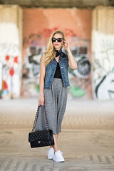 Edgy Comfort  Meagan, Style Blogger  America living in Rome, Italy, Europe (9lookbook.com) Tags: adidas bandana beachcoverup beachstyle bikini boaterhat bohemian boho bohochic boyfriendshorts brahmin buttondown cardigan casual chambray chanel classic coldshoulder coldshouldertop croppeddenim croppedpants culottes cutoffshorts denimondenim denimshorts denimvest drapeyvest edgy embroidered embroideredtop highwaistshorts intropia jumpsuit laceup laceupsandals laceupsweater laceuptank layers lbd lemonprint leopardheels leopardprint linendress littleblackdress longvest maxidress mules mulewedges neckscarf offtheshoulder olive otsdress paisley panamahat peasanttop poncho rawhemjeans redbag redstripes saintlaurent silversandals snakeskinprint sporty street stripeddress stripes suedetote summer superstar tunic utilityvest vintage wedgesandals whiteshirt ysl