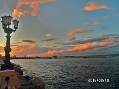 Baguette Cloud (triziofrancesco) Tags: bari cielo mare lungomare triziofrancesco puglia nuvole clouds tramonto september sea lampione