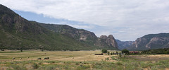 Ranch (Jeff Mitton) Tags: landscape mountains canyon cliffs walls ranch meadow westernlandscape