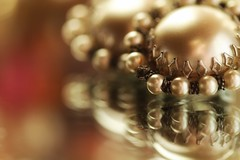 Grandma's pearls (s@ssyl@ssy) Tags: macro reflection inthemirror earrings clipons grandmas hmm macromondays pearls vintage antique jewelry